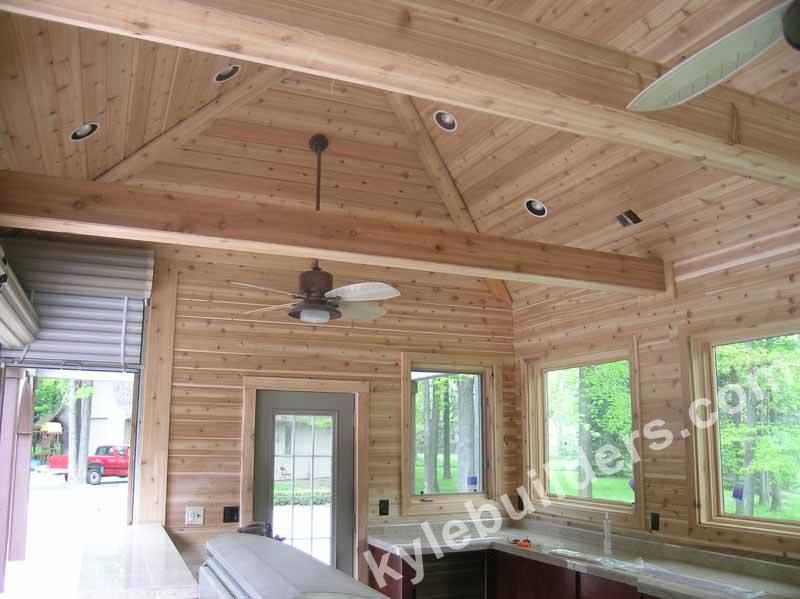 Kyle Builders Outdoor Ceilings In Michigan